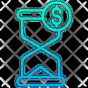 Dollar Clock Icon