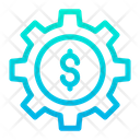 Dollar Cog Icon