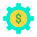Cog Wheel Dollar Wheel Money Optimization Icon