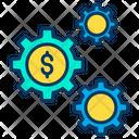 Dollar Cog Dollar Money Mangement Icon