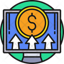 Online Payment Dollar Coin Monitor Icon