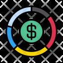 Dollar Graph Banking Icon