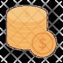 Dollar Coins Cash Icon