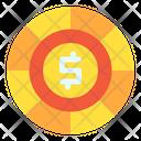 Dollar Coin Dollar Money Icon