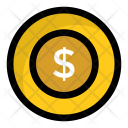 Dollar coin Icon