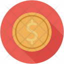Dollar Coin Bitcoin Icon