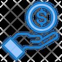 Dollar Coin In Hand Money Hand Icon