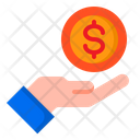 Dollar Coin In Hand Icon