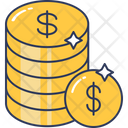 Money Dollar Coins Icon
