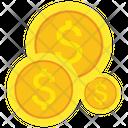 Dollar Coins Dollar Coin Money Icon