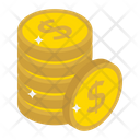 Currency Coins Dollar Coins Coins Stack Icon