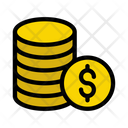 Coins Dollar Budget Icon