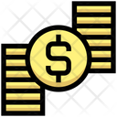 Dollar Coins Stack Dollar Icon