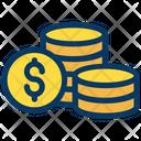 Dollars Coins Money Icon