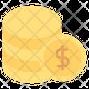 Money Dollar Coins Finance Icon