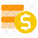 Coins Bank Commerce Icon