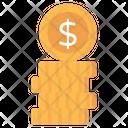 Dollar Coins Dollar Stack Money Coins Icon