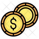 Dollar Coins Dollar Cash Icon