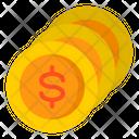 Dollar Coins Cash Wealth Icon