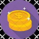 Dollar Coins Saving Icon