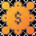 Dollar Connecting Icon