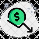 Dollar Decrease Icon