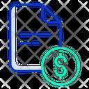 Dollar Document Icon