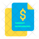 Dollar Finance Document Papers Icon