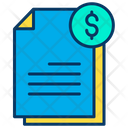 Dollar documents Icon