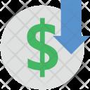 Dollar Down Icon