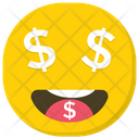 Dollar Emoji Comic Face Emoji Icon