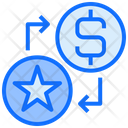 Dollar Star Exchange Icon