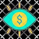 Dollar Eye Dollar Eye Icon