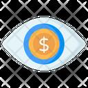 Financial Eye Dollar Eye Business Eye Icon
