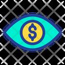 Eye Dollar Money In Eyes Icon