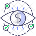 Dollar Eye Financial Eye Financial Vision Icon