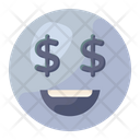 Dollar Eyes Emoji Emoticon Icon