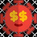 Dollar Eyes Coronavirus Emoji Coronavirus Icon