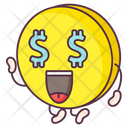 Dollar Eyes Coin Currency Money Icon