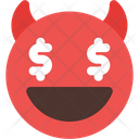 Dollar Eyes Devil Icon