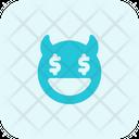Dollar Eyes Devil Icon
