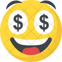 Dollar Eyes Emoji Icon