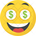 Dollar Emoji Greedy Icon