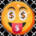 Dollar Eyes Emoji Icon