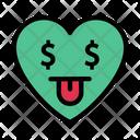 Dollareyes Face Heart Icon