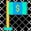 Dollar flag Icon