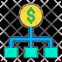 Flowchart Dollar Money Chart Icon