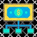 Dollar flow Icon