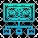 Dollar Flow Flow Money Flow Icon