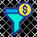 Funnel Dollar Filter Icon